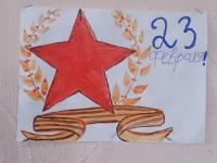 Выставка детских работ, посвященная 23 февраля!